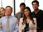 Sarah Michelle Gellar, Robin Williams, Hamish Linklater, Amanda Setton and James Wolk star in The Crazy Ones on CBS