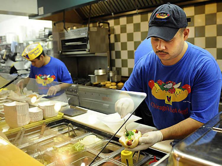 8-ounce Char Burger at Edzo's Burger Shop