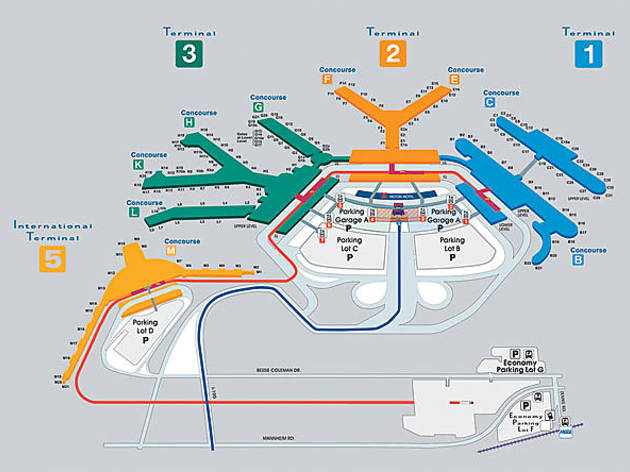 Ohare Airport Map Why is there no Terminal 4 at O'Hare Airport? Ohare Airport Map
