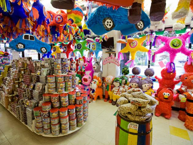 WHACK JOB Dulcelandia has a grande selection of piñatas and candy stuffing.