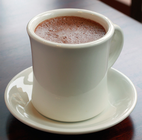 Hot chocolate at Cassava