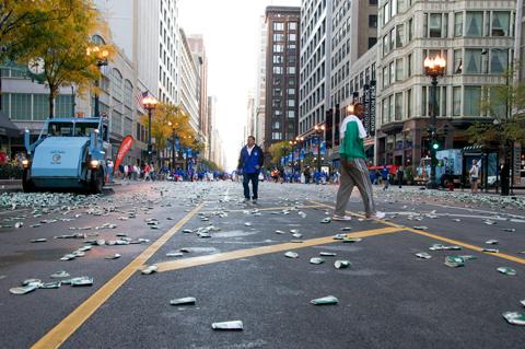 Fast-forwarding through the marathon route
