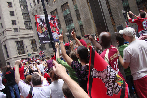 Victory parade and rally photos