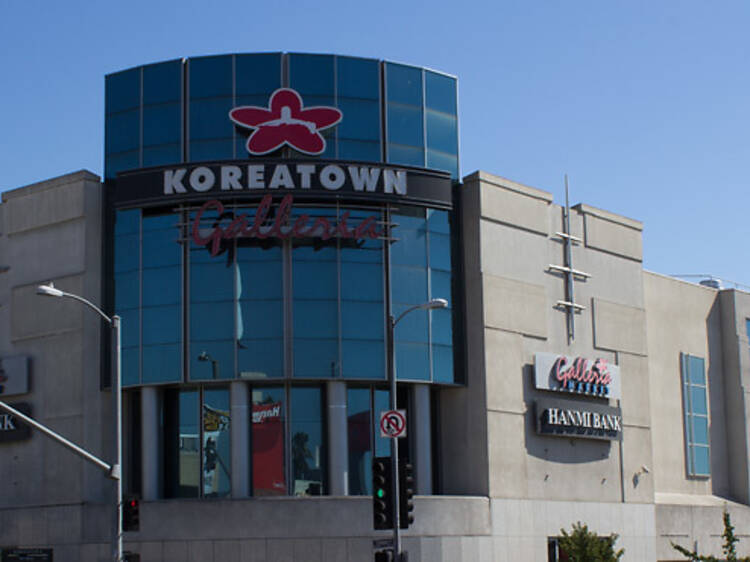 Roam a massive grocery store at the Koreatown Galleria