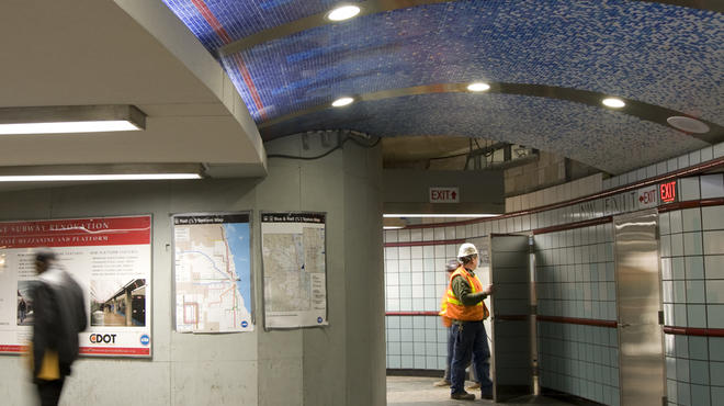 Renovation of Grand/State Red Line CTA station