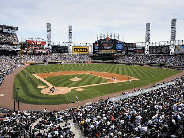 The Chicago White Sox in action at U.S. Cellular Field.