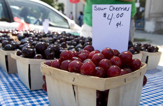 Farmers' Market cherries