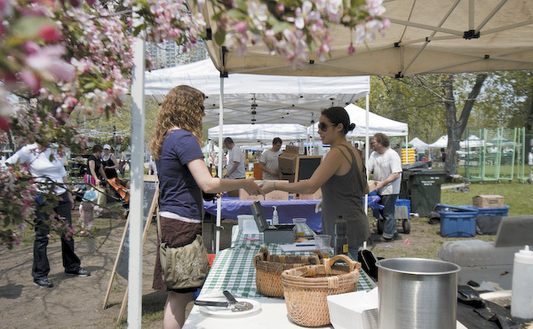 Buy fresh fruits, veggies and local products at the Green City Market