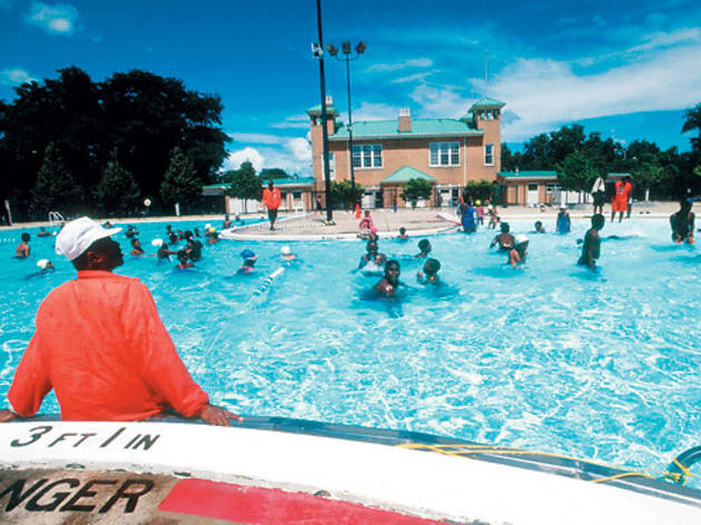 Swim in a Chicago Park District pool.