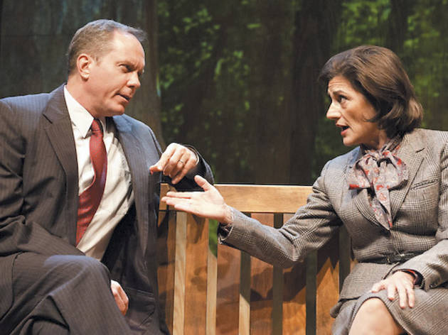 David Parkes and Janet Ulrich Brooks in A Walk in the Woods at TimeLine Theatre...