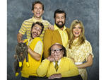 IT'S ALWAYS SUNNY IN PHILADELPHIA: Clockwise From Top: Glenn Howerton, Rob McElhenney, Kaitlin Olson, Danny Devito and Charlie Day. CR: FX