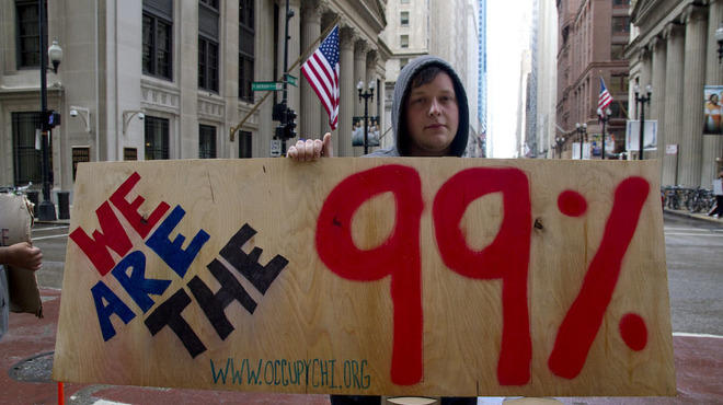 @OccupyChicago spend their sixth day protesting corporate abuse around the world.