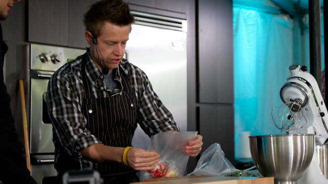 Richard Blais gives a demonstration at the first Cultivate Festival in 2011.
