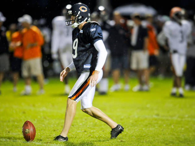 Chicago Bears kicker Robbie Gould at Bears Training Camp