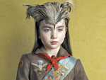 "Todd Baxter, Ceremonial Portrait - Girl, from ""Owl Scouts: Lost in the Woods"" (detail), 2011."