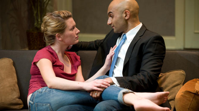 Lee Stark and Usman Ally in Disgraced at American Theater Company