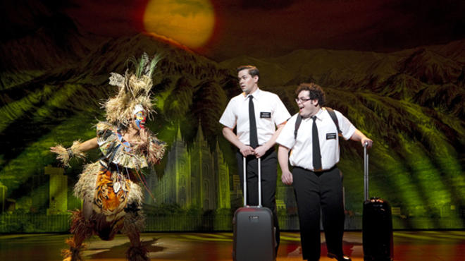 Andrew Rannells and Josh Gad in the Broadway production of The Book of Mormon
