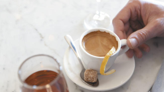 Amaro and espresso at Lula cafe