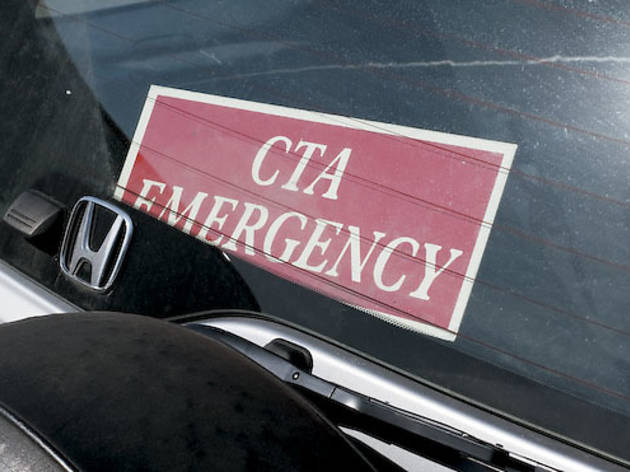 Can CTA employees use signs and vests to park in tow zones?