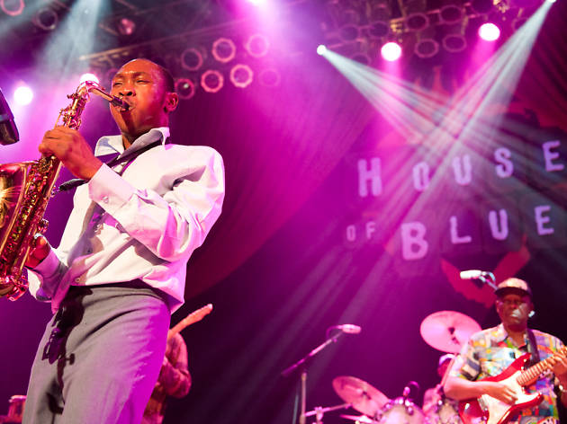 Seun Kuti & Egypt 80 perform at the House of Blues, 4/1/12.