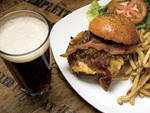 It's Bacon Crazy: Revolution brewery's burger and beer combo is insanely good.