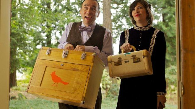 Fred Armisen and Carrie Brownstein mock hipsters in the IFC original comedy series Portlandia.