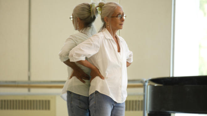 Twyla Tharp in the studios of Seattle's Pacific Northwest Ballet.