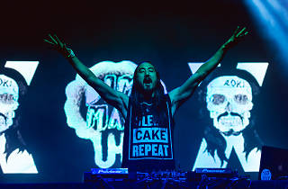 Steve Aoki, Pharrell Williams and Waka Flocka Flame throw a party on the Aokify America Tour at Chicago's UIC Pavilion.