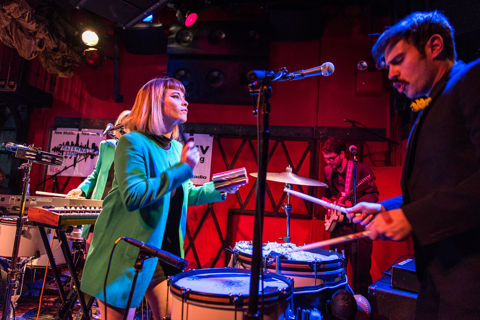 Lucius performs at Rockwood Music Hall for CMJ Music Marathon