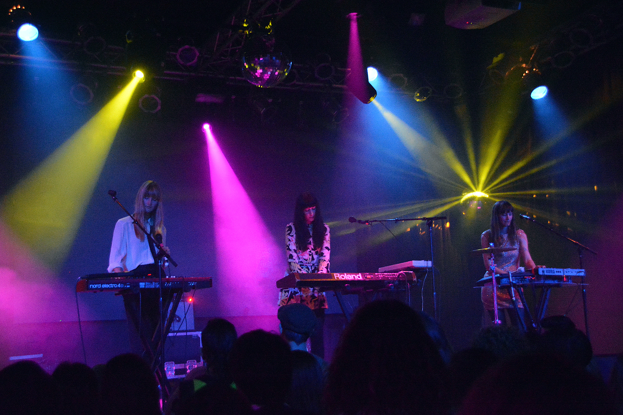 Au Revoir Simone performs at Highline Ballroom during the 2013 CMJ Music Marathon on October 16, 2013.