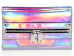 Milly Demi hologram leather clutch, $375, at Saks Fifth Avenue, 611 Fifth Ave between 49th and 50th Sts (212-753-4000, saksfifthavenue.com)