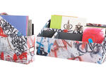 Aéropostale Room graffiti magazine file, $22; and graffiti desk organizer, $15