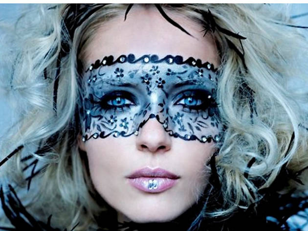 Masquerade mask makeup, $150, at Pierre Michel Salon