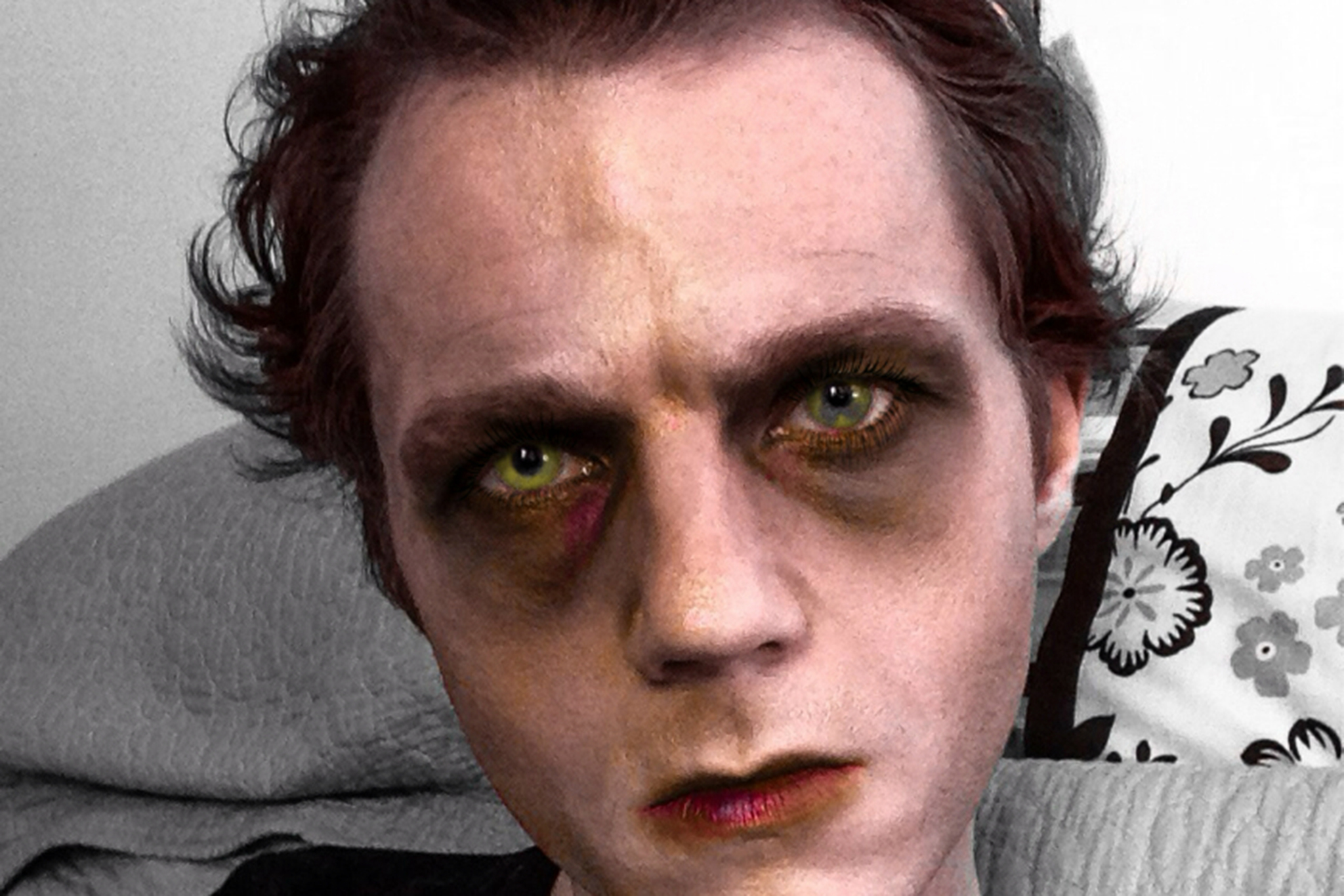 Zombie makeup, $100, at Ramy Spa