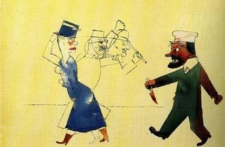 George Grosz (John, der Frauenmörder (John, the Woman Slayer), 1917)