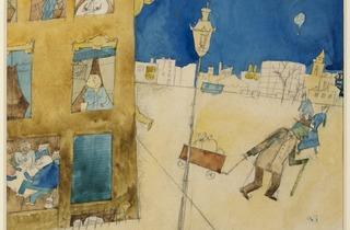 George Grosz (Nachtszene, Berlin (Nightscene, Berlin), 1915)