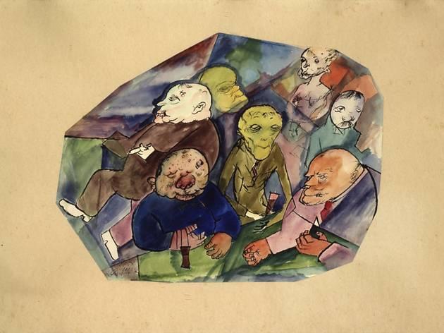George Grosz (Stammtisch (Regular's table), 1916)