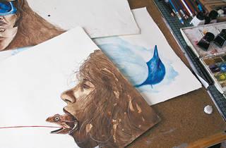 Detalle de su ilustración (Foto: Alejandra Carbajal)