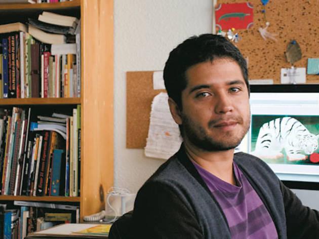 Juan Palomino en su estudio (Foto: Alfredo Mora)