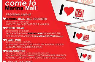 Marina Mall Launch – monthly programme line-up