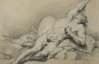 Dandré-Bardon ('Male, stretched out, right arm raise' (1769))