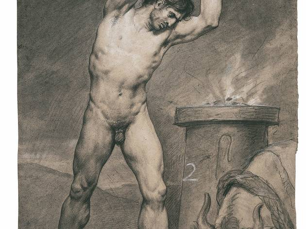 Antoine Jean-Gros ('Man standing, striking a bull' (1790))