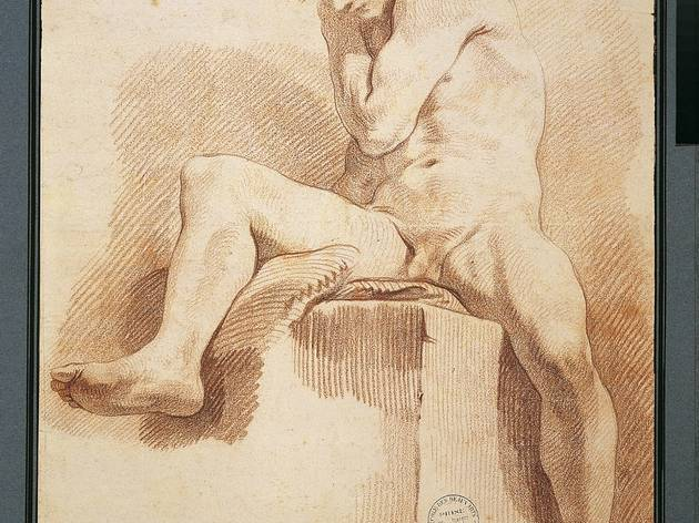 Carl van Loo (Study of a man sat on a rock (undated))