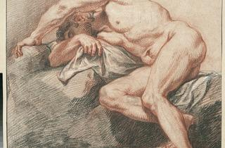 Plattemontagne ('Sleeping man, legs bent' (1687))