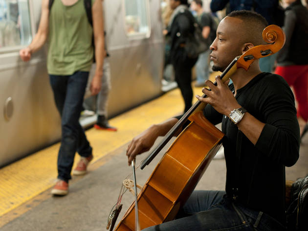 "Subway busker Gabriel Royal: ""You could put a choir down there and it would sound like Carnegie Hall."""