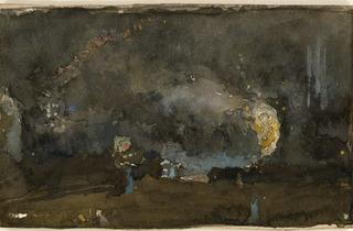 James Abbott McNeill Whistler ('Copy of Nocturne: Black and Gold – The Fire Wheel', 1893)