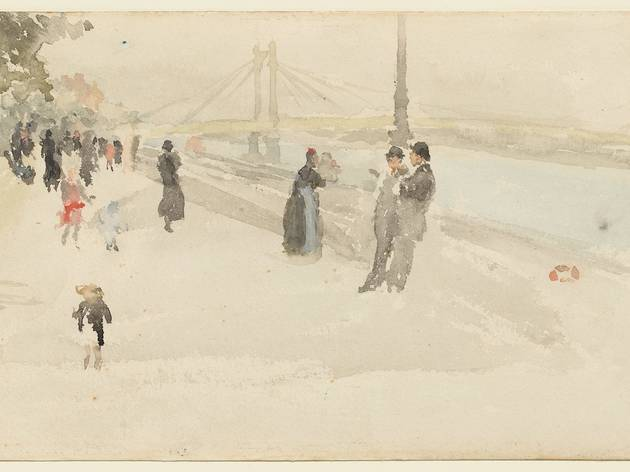 James Abbott McNeill Whistler ('Pink and Silver - Chelsea, the Embankment', (c1885) )