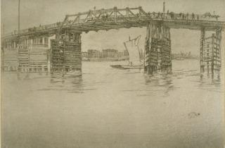 James Abbott McNeill Whistler ('Old Battersea Bridge', 1878-1889 )