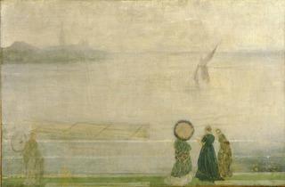 James Abbott McNeill Whistler ('Battersea Reach from Lindsey Houses', c1864-1871 )