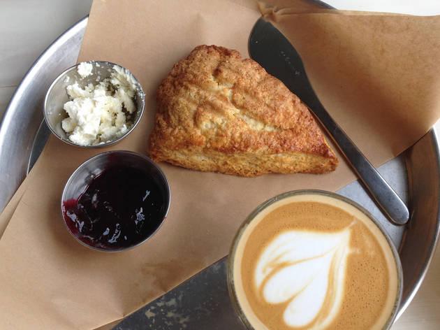 koreatown, cafe, brewwell, scone, cornbread